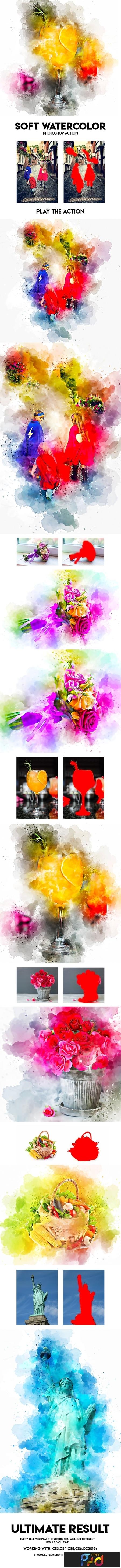 Soft Watercolor Photoshop Action 23799935 1
