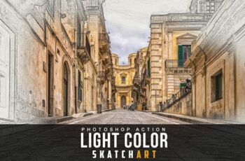 Light Color Skatch Art Action 3