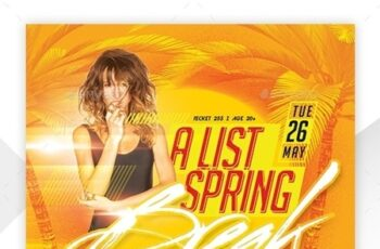 Spring Party Flyer 23838469 8