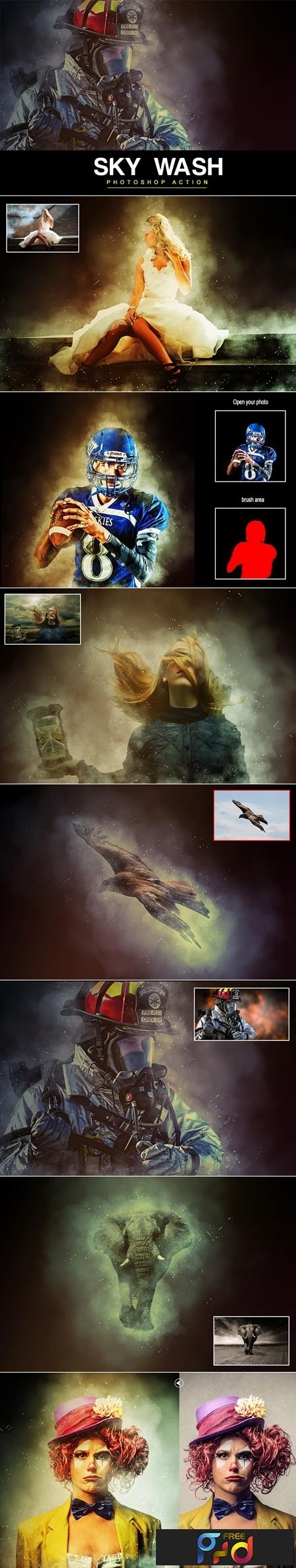 Sky Wash Photoshop Action 1
