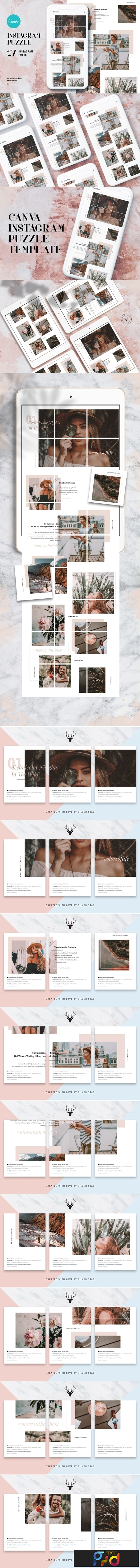 InstaGrid 1.0 Canva Puzzle Template 3823623 1