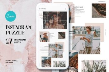 InstaGrid 1.0 Canva Puzzle Template 3823623