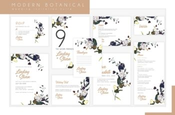 Modern Botanical Wedding Suite 3751973 3