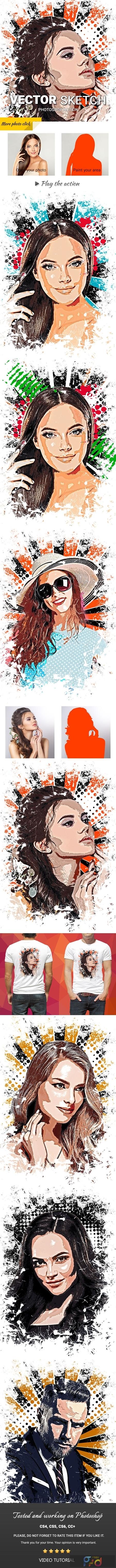 Vector Sketch Photoshop Action 23761711 1