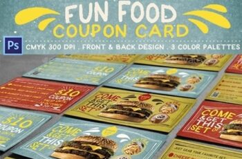 Fun Food Coupon Card 18048723 8