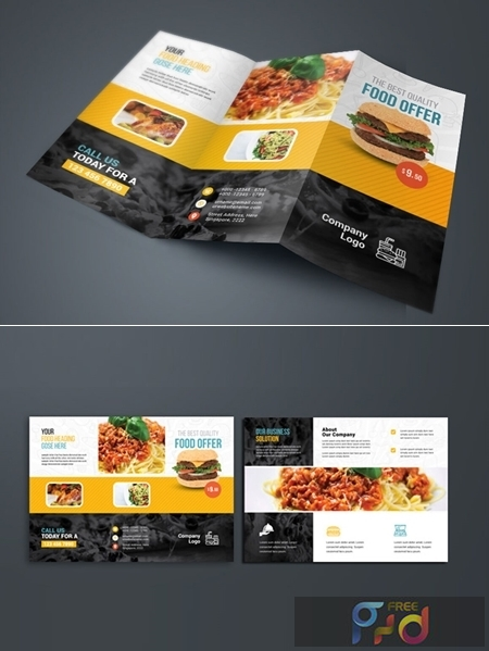 Food And Restaurant Trifold Brochure 3582972 1