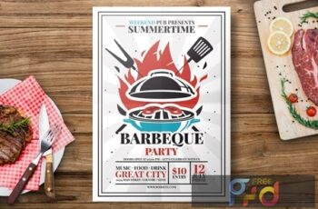 Barbecue Grill Flyer Template 6