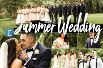 Neo Summer Wedding Theme mobile lightroom presets engagement tone Adobe 5