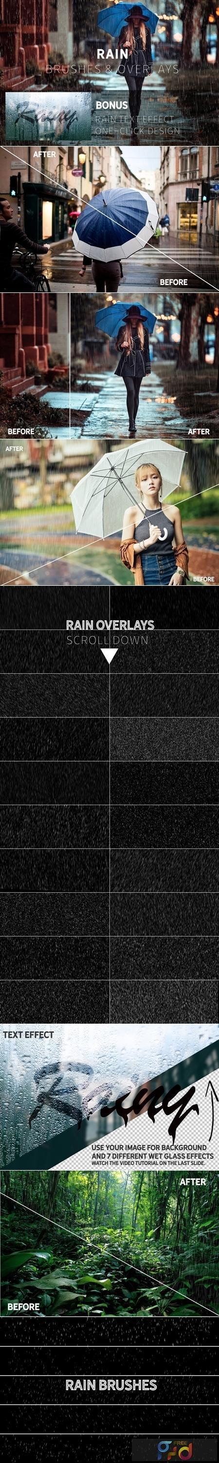 Rain Effect TEXT & Overlays & Brush 3744372 1