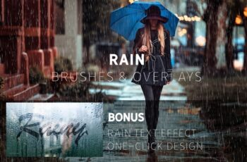 Rain Effect TEXT & Overlays & Brush 3744372 3