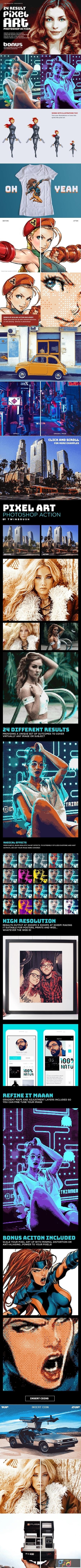Pixel Art Photoshop Action 1353417 1