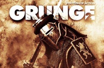 Grunge 2 Photoshop Action 23362040 3