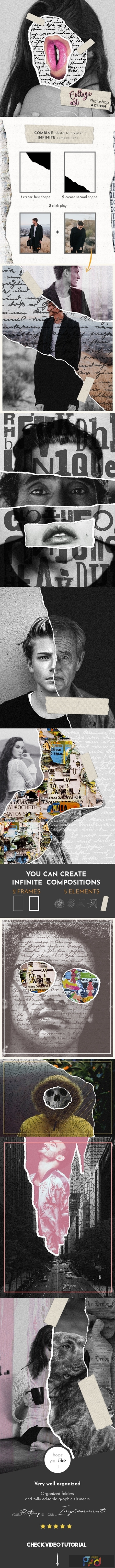 Collage Art Photoshop Action 23029863 1