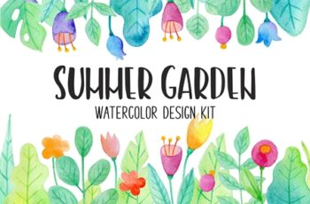 Summer Garden Watercolor Design Kit 3852066 6