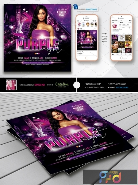 Purple Night Flyer 3803324 1