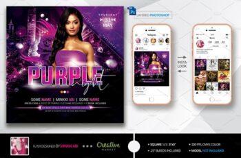 Purple Night Flyer 3803324