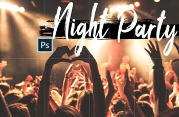 Neo Night Party Theme Color Grading photoshop actions, ACR LUT preset 6