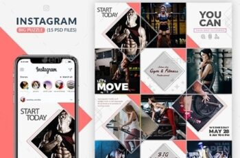 Fitness GYM Instagram Puzzle Templates 23953564 16