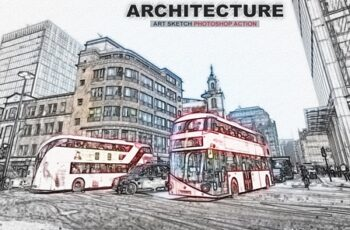 Architecture Art Sketch Photoshop Action 3177347 4