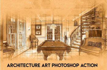 Architecture Art Photoshop Action 6