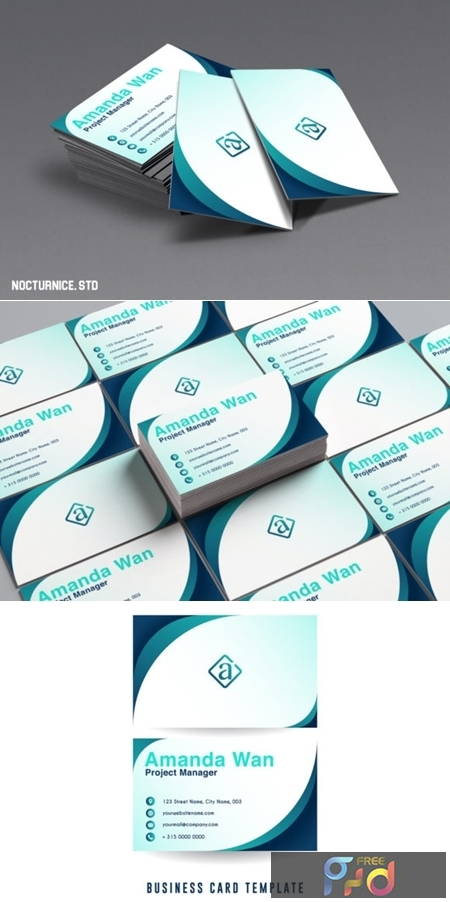 Modern Minimalist Business Card Template 1485660 1