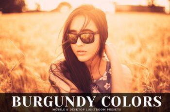 Burgundy Colors Mobile & Desktop Lightroom Presets 5