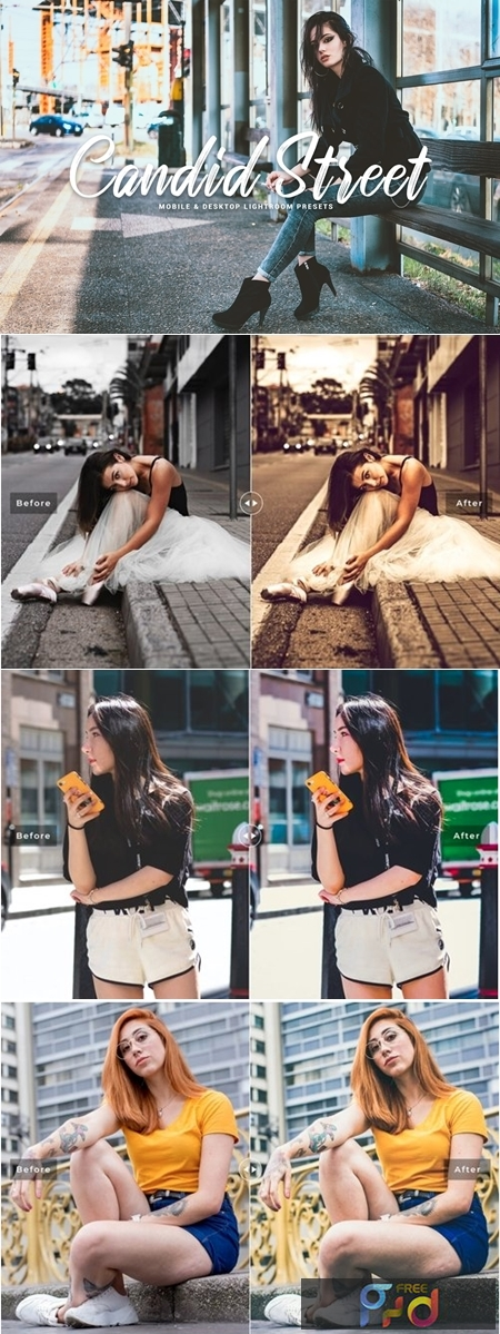 Candid Street Mobile & Desktop Lightroom Presets 1