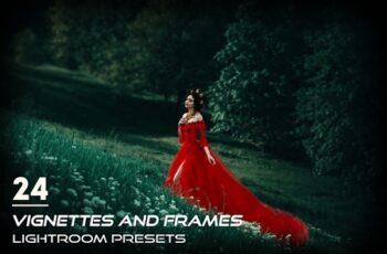 24 Vignettes and Frames Lightroom Presets 6