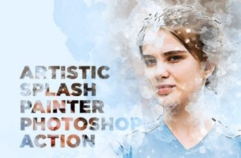 Artistic Splash Painter Photoshop Action 23842922 3