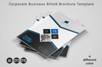 Corporate Business Bifold Brochure Template 3589117 7