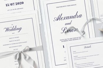 Wedding Template Suite, An Invitation Pack Classic 6