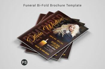Funeral Bi-fold Brochure Template 6