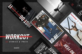 Workout Social media Template, instagram template sport, fitness 2