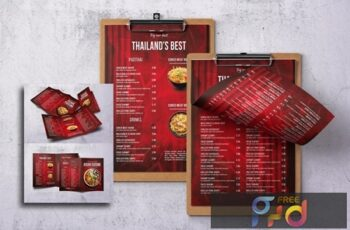 Asian Cuisine Food Menu Bundle 7