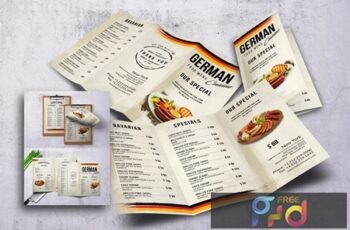 German Cuisine Food Menu Bundle 5