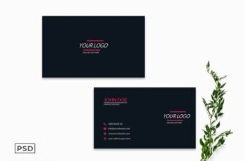 Clean Minimal Business Card Template 4