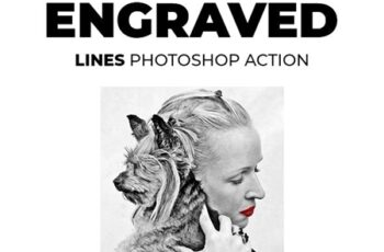 Engraved Lines Photoshop Action 21370088 3