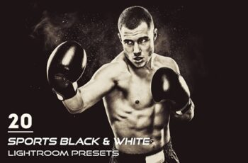 20 Sports Black & White Lightroom Presets 6
