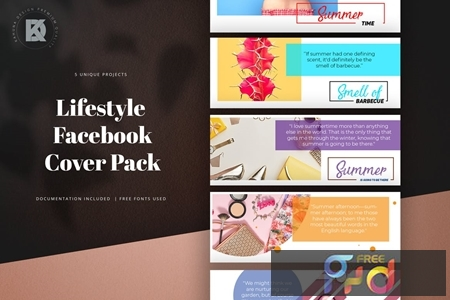 Lifestyle Facebook Cover Pack 1