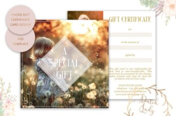 Photo Gift Card PSD Template 1512029 3