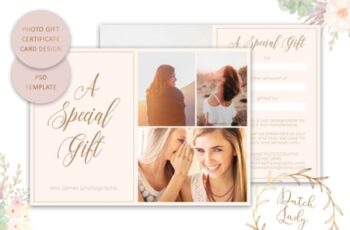 Photo Gift Card PSD Template 1512046 4