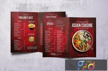 Asian Bifold A4 & US Letter Food Menu V2 10