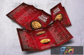 Asian Trifold A4 & US Letter Food Menu V2 9