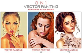 3 in 1 Vector Painting Photoshop Action Bundle 7