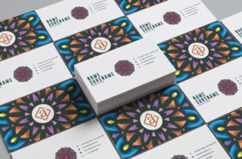 Mandala Business Card Template 1511919 6