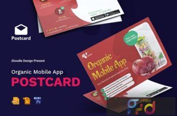 Organic Mobile App Postcard