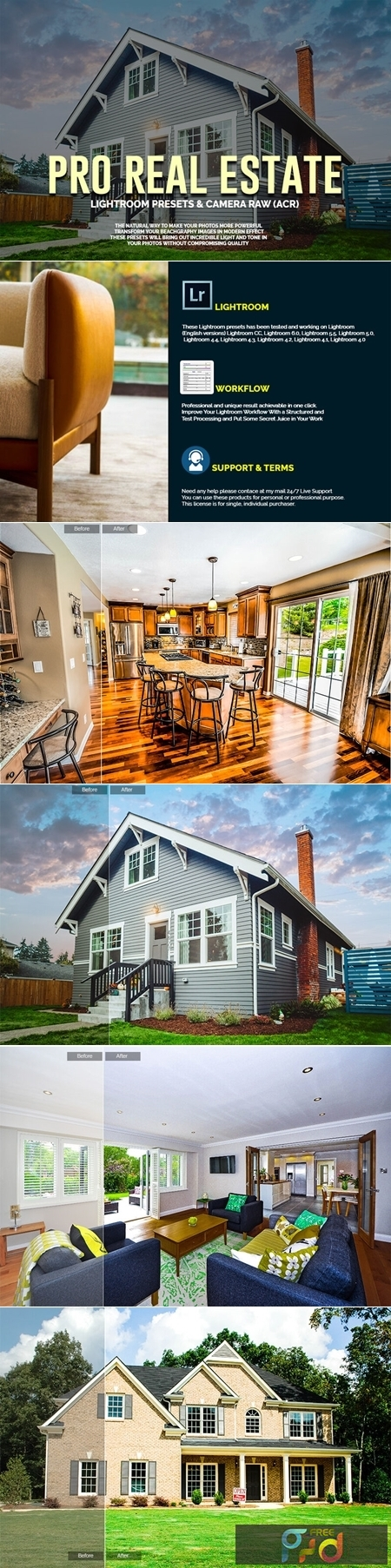 PRO Real Estate LR Presets and Camera Raw(ACR) 1