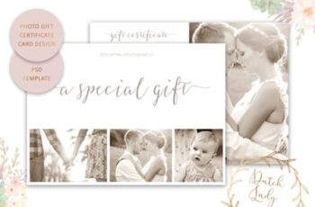 Photo Gift Card PSD Template 1511993