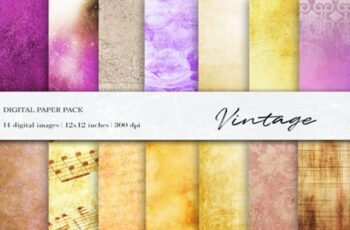 Vintage Digital Papers, Vintage Textures 1511934 1