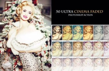50 Ultra Cinema Faded Photoshop Action 1